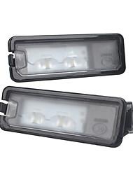 cheap -LED Rear License Number Plate Light Lamp For VW Beetle Polo Golf MK7 Error Free