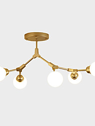 cheap -ZHISHU 5-Light 75 cm WIFI Control Chandelier Metal Glass Sputnik Industrial Painted Finishes Contemporary Chic & Modern 110-120V 220-240V E26 E27