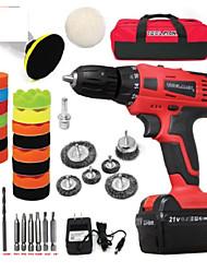 cheap -Toolman 30 pcs Cordless Drill Kit 21V with Drill Set 11 pcs & Polishing kit