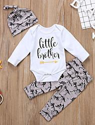 cheap -Baby Girls' Active Basic Print Ripped Print Long Sleeve Regular Regular Clothing Set White
