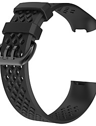 cheap -Watch Band for Fitbit Charge 3 Fitbit Sport Band / Modern Buckle Silicone Wrist Strap