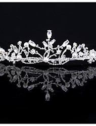 cheap -Alloy Tiaras with Sparkling Glitter / Pearls / Glitter 1pc Wedding / Party / Evening Headpiece