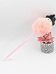 abordables -noël en plastique pu boule de poils de bonhomme de neige bleu crayon plomb artisanat cadeaux pour enfants apprenant papeterie de bureau