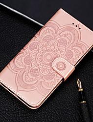 Недорогие -Кейс для Назначение Nokia Nokia 7.1 / Nokia 5.1 / Nokia 3.1 Кошелек / Бумажник для карт / со стендом Чехол Цветы Твердый Кожа PU