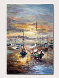 cheap -Oil Painting Hand Painted Landscape Abstract Landscape Classic Vintage Rolled Canvas Rolled Without Frame