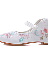 cheap -Women's Modern Shoes / Ballroom Shoes Cotton Flat Flat Heel Dance Shoes Black / White / Pink / Performance / Practice