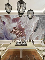 cheap -3d Pink-Purple Art Flower Suitable for TV Background Wall Wallpaper Murals Living Room Cafe Restaurant Bedroom Office XXXL(448*280cm)