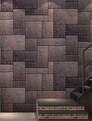 cheap -Wallpaper Nonwoven Wall Covering Adhesive Required Geometric 1000*53 cm