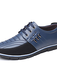 cheap -Men's Oxfords Comfort Shoes Driving Shoes Light Soles Casual British Party & Evening Office & Career Synthetics Non-slipping Wear Proof Light Brown Blue Black Color Block Fall Winter Spring / Rivet