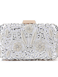 cheap -Women's Bags Polyester Alloy Evening Bag Beading Sequin Geometric Pattern Wedding Party Event / Party Gold Silver