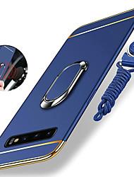 abordables -Coque Pour Samsung Galaxy S9 / S9 Plus / S8 Plus Antichoc / Plaqué / Anneau de Maintien Coque Couleur Pleine Dur PC / Métal