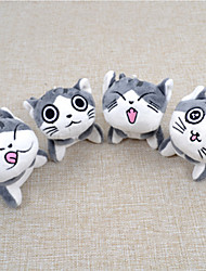 cheap -Cat Stuffed Animal Plush Toy Key Chain Animals Cute Portable Other PP+ABS Toy Gift 4 pcs