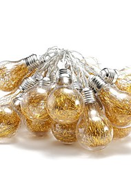 cheap -6m String Lights 20 LEDs Yellow Solar Solar Powered 1 set