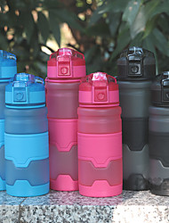 cheap -Water Bottle 500 ml PP Portable for Camping / Hiking / Caving Traveling Green Grey Orange Blue Pink