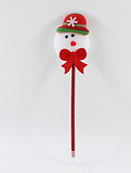 cheap -Christmas Plastic / Non-woven Fabric Lovely Snowman 0.5 mm Ballpoint Pens Blue Pencil Lead For Office &amp School Supplies