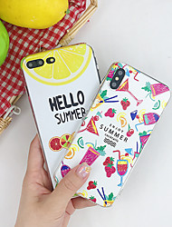 cheap -Case For Apple iPhone XS / iPhone XR / iPhone XS Max Shockproof / Water Resistant / Pattern Back Cover Food / Word / Phrase Soft TPU