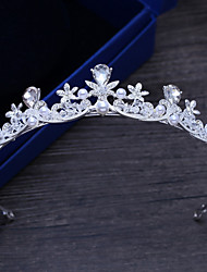 cheap -Alloy Tiaras with Rhinestone 1 Piece Wedding / Special Occasion Headpiece