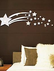 Недорогие -светящиеся звезды 3d зеркальные настенные наклейки - зеркальные настенные наклейки формы кабинет / офис / столовая / кухня