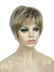 cheap -Synthetic Wig Straight Pixie Cut Wig Black / Blonde Short Blonde Kanekalon 6 inch Women's Synthetic Black / Blonde