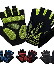 cheap -Bike Gloves / Cycling Gloves Breathable Anti-Shake / Damping Skidproof Wicking Fingerless Gloves Sports Gloves Black Green Red for Adults' Road Cycling Outdoor Exercise Cycling / Bike