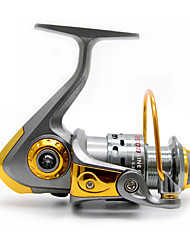 cheap -Spinning Reel 5.5/1 Gear Ratio+13 Ball Bearings Hand Orientation Exchangable Spinning / Lure Fishing - MS1000-4000