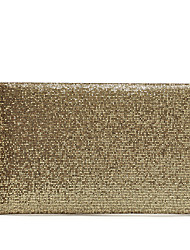 cheap -Women's Sequin PU Clutch Solid Color Gold / Brown / Black / Fall & Winter