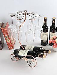 cheap -1pc Wrought Iron Wine Rack Wine Racks Classic Wine Accessories for Barware