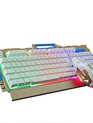 cheap -LITBest K33 USB Wired Gaming Keyboard Multimedia Keyboard Gaming Waterproof Multicolor Backlit 104 pcs Keys