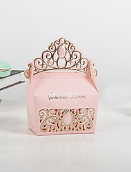 Недорогие -Кубический Розовая бумага Фавор держатель с Узоры / принт Товары для дома / Обустройство дома / Упаковка и коробки для кексов - 50 ед.