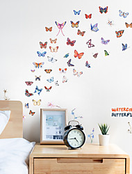 cheap -Color Butterfly Wall Stickers - Words &amp Quotes Wall Stickers / Plane Wall Stickers Characters Study Room / Office / Dining Room / Kitchen