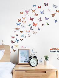 abordables -stickers muraux papillon couleur - mots& amp quotes autocollants muraux / autocollants muraux avions personnages salle d'étude / bureau / salle à manger / cuisine