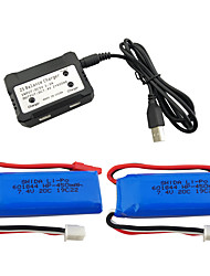 Недорогие -WLtoys K969 K979 K989 K999 P929 P939 7.4V 550mAh 1 комплект батарея Быстрая зарядка