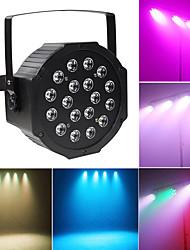 cheap -1 set LED Stage Light 18 Pearl Par Light Full Color Staining Light DMX512 Sound Control Light Background Light DJ Bar Ballroom Decoration Light