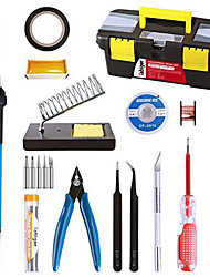 cheap -16-In-One Soldering Iron Kit 60W Lead-Free Adjustable Warm-Luo Iron Temperature-Controlled Soldering Pen Tool Combination