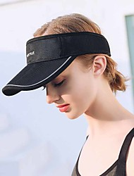 cheap -Solid Colored Baseball Cap Breathable for Baseball Fitness POLY Summer Black White