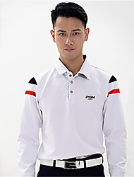 cheap -Men's Polos Shirt Long Sleeve Golf Outdoor Autumn / Fall Winter / Cotton / High Elasticity / Quick Dry / Thermal / Warm / Solid Color