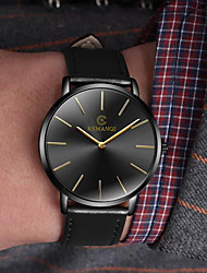 cheap -Men's Dress Watch Analog Quartz Minimalist Casual Watch / One Year / Leather