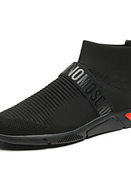 cheap -Men's Comfort Shoes Microfiber / Tissage Volant Spring & Summer Casual Athletic Shoes Walking Shoes Non-slipping Mid-Calf Boots Black