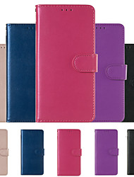 cheap -Case For Huawei P30 Pro Huawei P30 Lite Phone Case PU Leather Material Solid Color Phone Case
