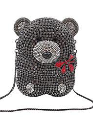 cheap -Women's Bear / Crystals Alloy Evening Bag Animal Champagne / Gold / Dark Gray / Fall & Winter