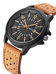 cheap -HANNAH MARTIN Men's Digital Watch Quartz Black / Orange / Brown 30 m Calendar / date / day Analog Casual - Black Orange Khaki One Year Battery Life