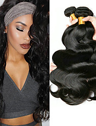 cheap -4 Bundles Indian Hair Body Wave Unprocessed Human Hair 100% Remy Hair Weave Bundles Headpiece Bundle Hair Human Hair Extensions 8-28 inch Natural Color Human Hair Weaves Easy to Carry Women New