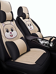 cheap -five seats/general motors seat cover/ Car cushion cartoon fabric all surround linen seat set winter new cute ice silk Four Seasons special seat set/Beige