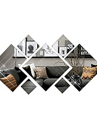 cheap -3D Fashion Diamond Decorative Mirror Wall Stickers - Mirror Wall Stickers Shapes Study Room / Office / Dining Room / Kitchen