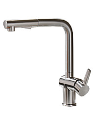 cheap -Kitchen faucet - Single Handle One Hole Nickel Brushed Pull-out / ­Pull-down Other Contemporary / Antique Kitchen Taps