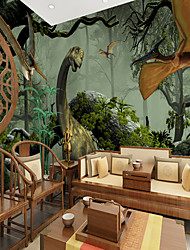 cheap -Nursery Mural Wallpaper Wall Sticker Covering Print Adhesive Required Cartoon Dinosaur Forest Home Décor Canvas
