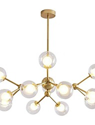 cheap -12 Bulbs 90 cm Chandelier Metal Glass Sputnik Painted Finishes Modern 110-120V / 220-240V