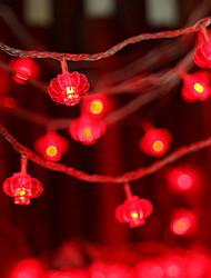 Недорогие -6,8 млн Гирлянды 30 светодиоды Красный Работает от солнечной энергии / Декоративная Солнечная энергия 1 комплект