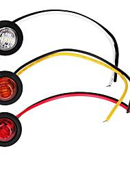 abordables -2pcs ampoules de voiture 1 w 80 lm led feux de brouillard / clignotants / feux de position latéraux pour moteurs généraux universels toutes les années