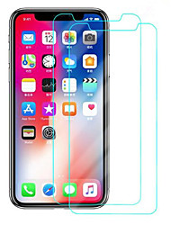 Недорогие -защитная пленка для Apple iphone X / iPhone XS закаленное стекло 2 шт. передняя защитная пленка высокого разрешения (HD) / 9h твердость / взрывозащищенный